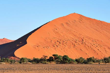 Very high red sand dune in the Namib Desert Stock Photo