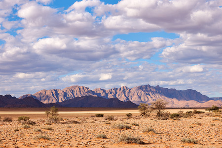 Beautiful Namibia landscape photographed at the first lights of the day