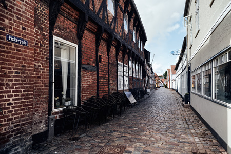 Ribe, a 1300 years old town. Ribe, Denmark 08-26-2018, illustrative editorial.