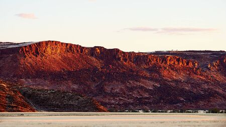 Beautiful Namibian landscape, photographed at sunset in the Damaraland. Stock Photo