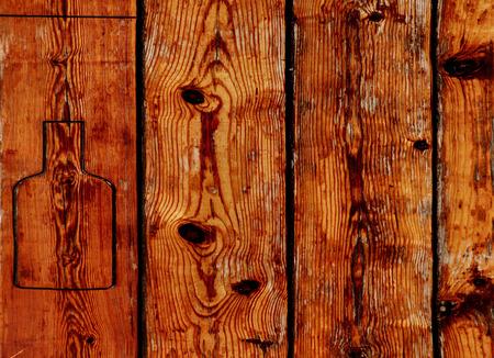 rancho: Madera de publicidad panel de efectos rancho Foto de archivo
