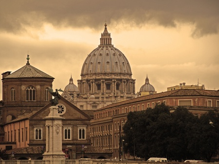 st peter: a particular view of Basilica of St. Peter in Rome