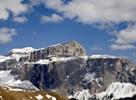 a view of Dolomiti in Italy