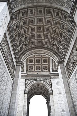 monumental: Details of Arc de Triomphe in Paris, monumental architecture. Stock Photo