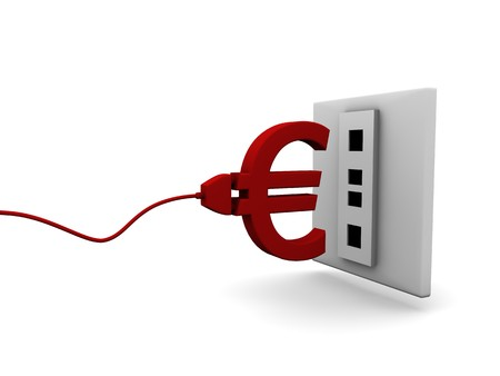 Euro plug connecting to a socket photo