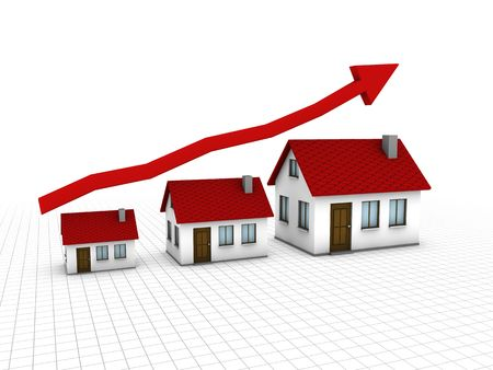 Chart that show growing of housing market Stock Photo - 7108361