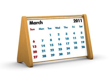 2011 wooden calendar photo