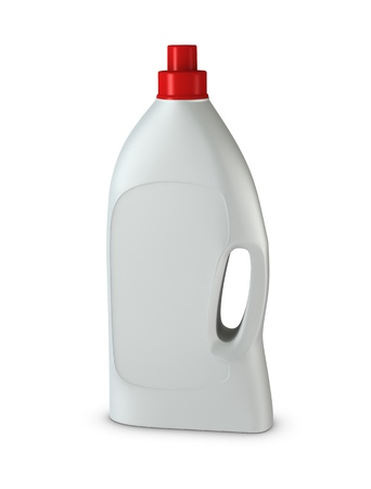 One 3d detergent bottle with blank space for general purpose photo