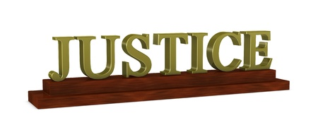 one 3d render of a wooden nameplate with the word Stock Photo - 9332913