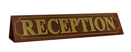 one 3d render of a wooden nameplate with the word