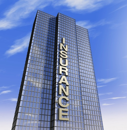 one 3d render of a skyscraper, headquarter of a company photo