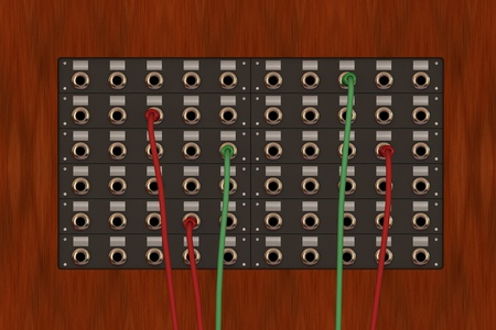 one 3d render of an old telephone panel photo
