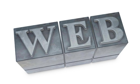 the word WEB made with old movable type (3d render) photo