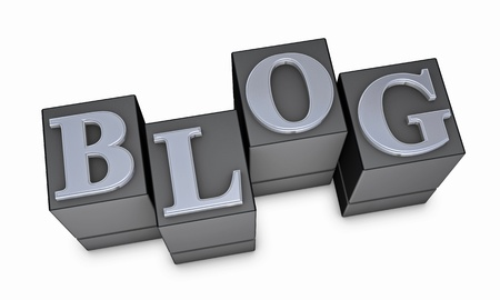 the word BLOG made with movable type (3d render) Stock Photo - 9447239
