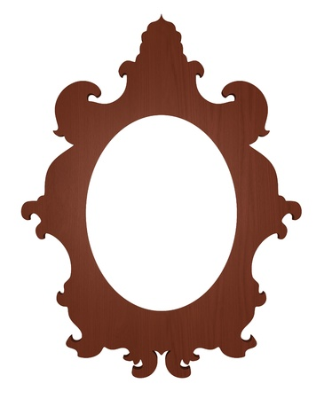 mirror image: classic picture frame with white space for your text or image