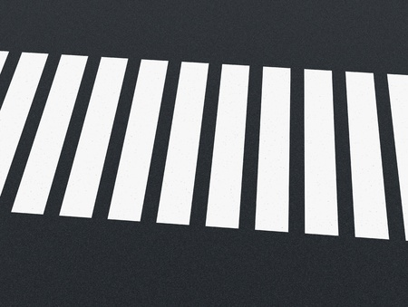 closeup of a street with the zebra crossing (3d render) Stock Photo