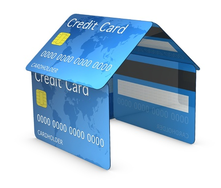 house made with credit cards (3d render) Stock Photo - 9702527