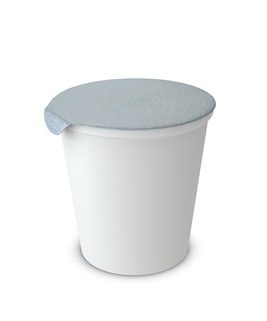envases plasticos: 3D de una taza de yogur con espacio en blanco para fines generales