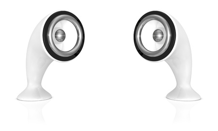 hi fi system: original design by me of two modern speakers (3d render)