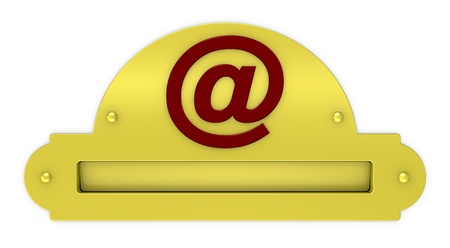 one mailbox with the email symbol, concept of traditional and modern communication (3d render) photo
