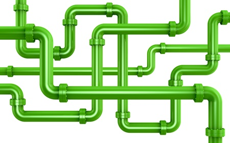 many pipes intersecting each other (3d render) photo