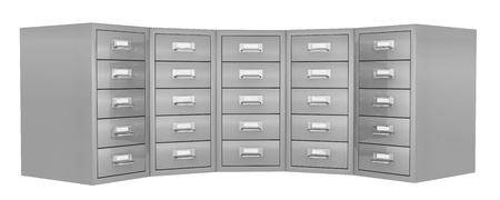 file cabinet: front view of a big file drawer (3d render)