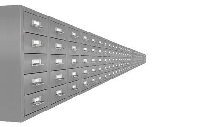 one row of file drawer (3d render) photo