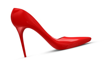 one high heels shoe, concept of femininity and luxury (3d render) photo