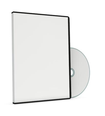 may�sculas: un cd o dvd con el caso de un disco (3d)