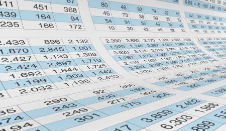hoja de calculo: gran cantidad de números en una hoja de cálculo (3d)