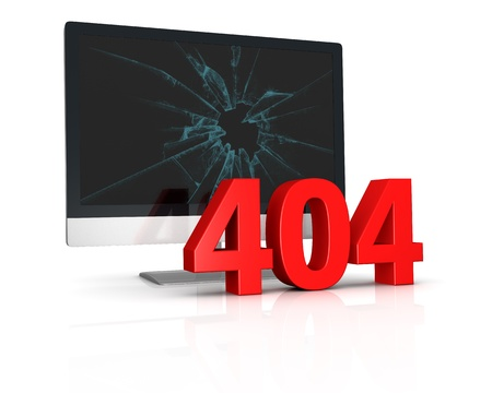 image to use on websites as 404 error page, or as concept of computer error (3d render) Stock Photo - 10920812