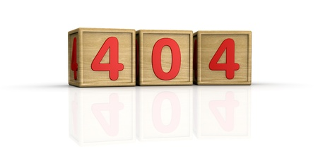 image to use on websites as 404 error page, or as concept of computer error (3d render) Stock Photo - 10920830