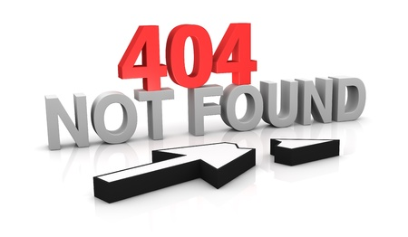 found: image to use on websites as 404 error page, or as concept of computer error (3d render)