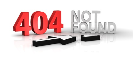 image to use on websites as 404 error page, or as concept of computer error (3d render) photo