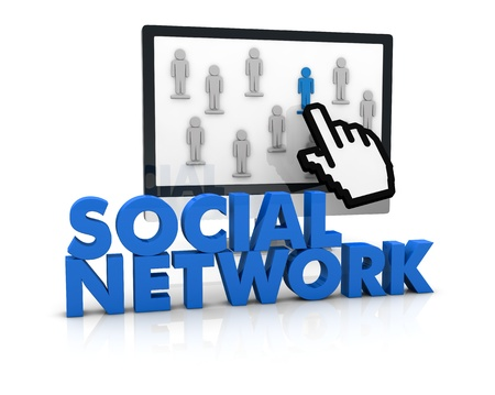 image to show the concept of social network or team work (3d render) photo