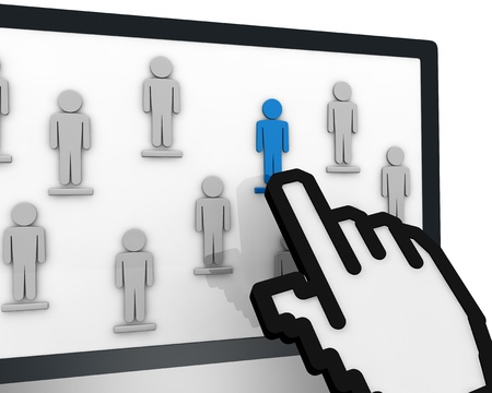 image to show the concept of social network or team work (3d render) Stock Photo - 10920822