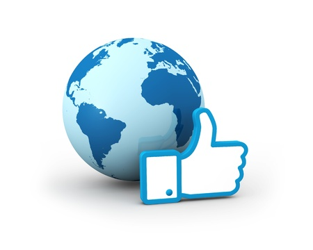 the typical thumb up of social networks (3d render) Stock Photo - 11098038