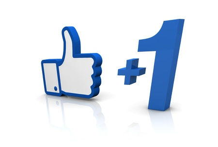 the typical thumb up of social networks (3d render) Stock Photo - 11097942