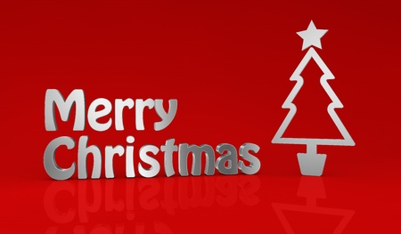 one Christmas background made with stylized symbols (3d render) photo