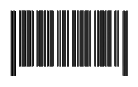 number code: one barcode without numbers for customization (3d render)