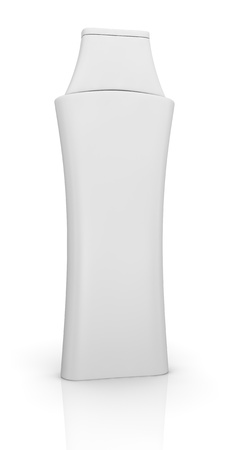 one bottle of shampoo with blank space for customization (3d render) photo