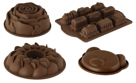 one set of dessert mould in different shapes and colors Stock Photo - 11967094