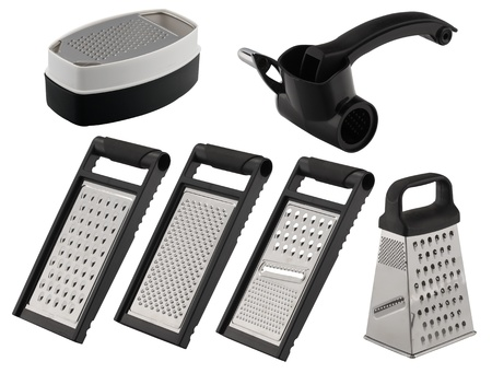 one set of six graters with black color photo