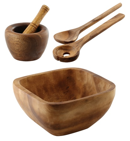 kitchen tool: one set of two vintage style kitchen tools made with wood