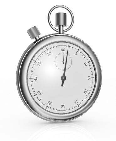 chronometer: one beautiful analog stopwatch, vintage style (3d render)