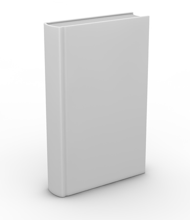 one white book with space for custom text or image (3d render) Stock Photo - 12826220