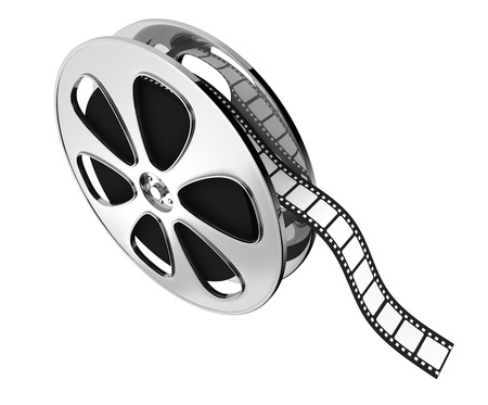 celluloid film: top view of a film reel (3d render) Stock Photo