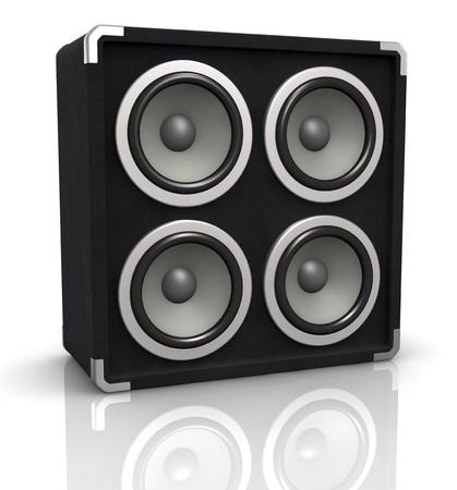 party system: one concerto audio speaker box (3d render)