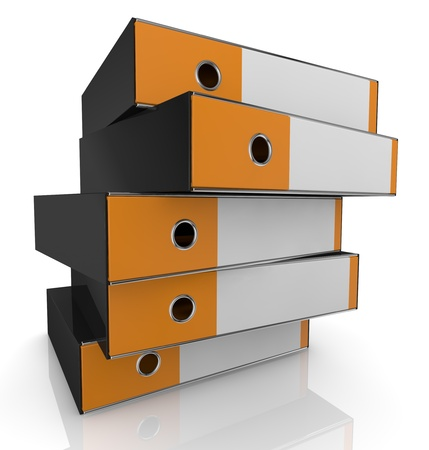 closeup of a stack of office folders (3d render) photo