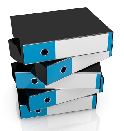 closeup of a stack of office folders (3d render) Stock Photo - 13936430
